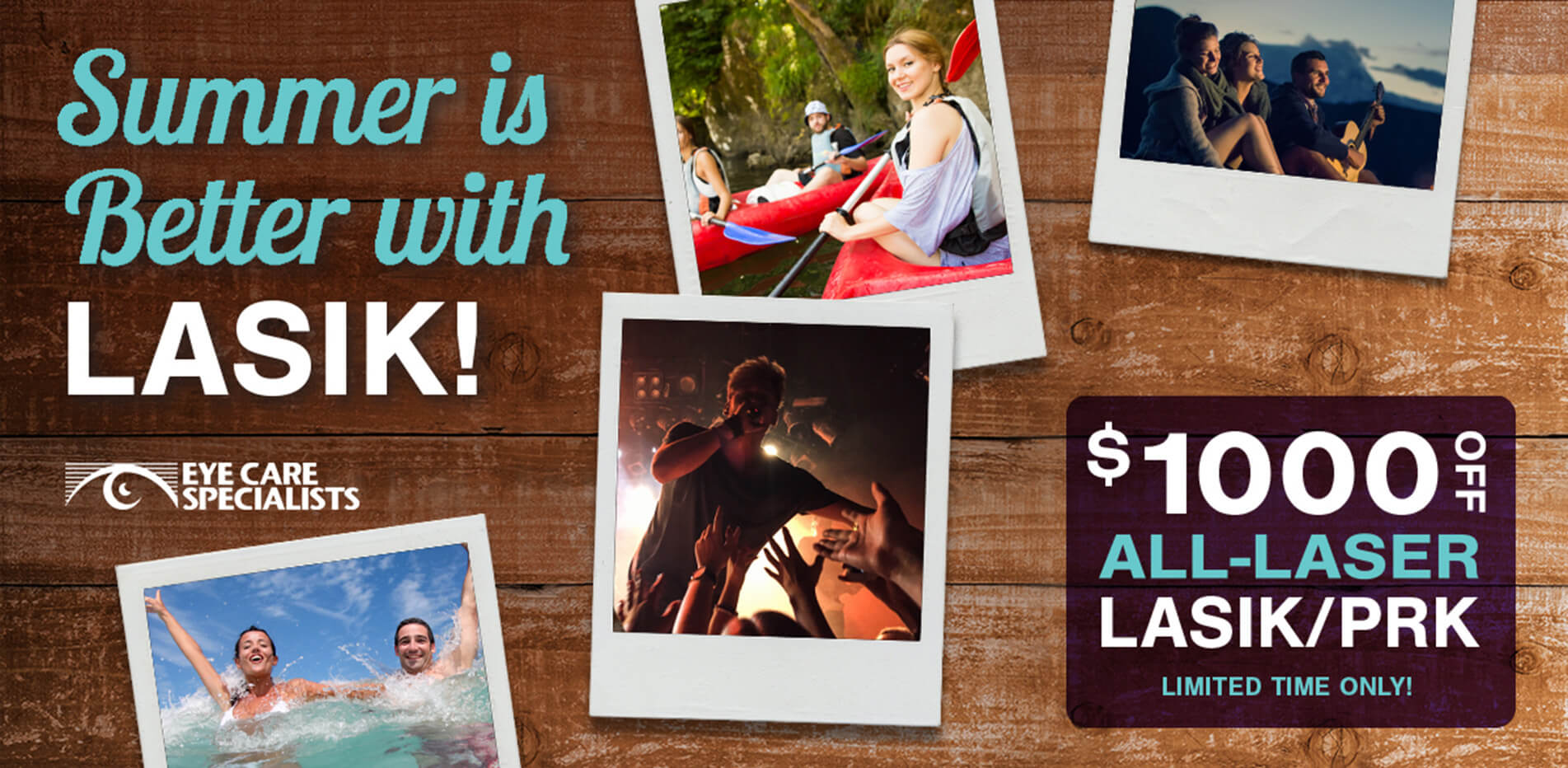 Summer is Better With LASIK! $1000 Off All-Laser LASIK/PRK*