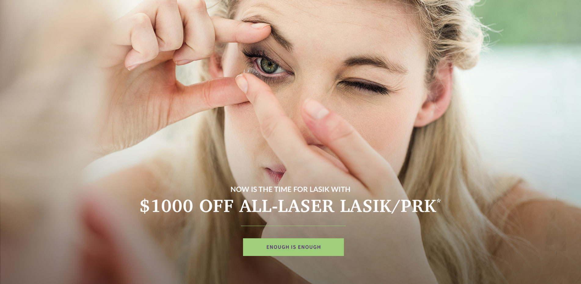 Now is the time for LASIK with $1000 off All-Laser LASIK/PRK