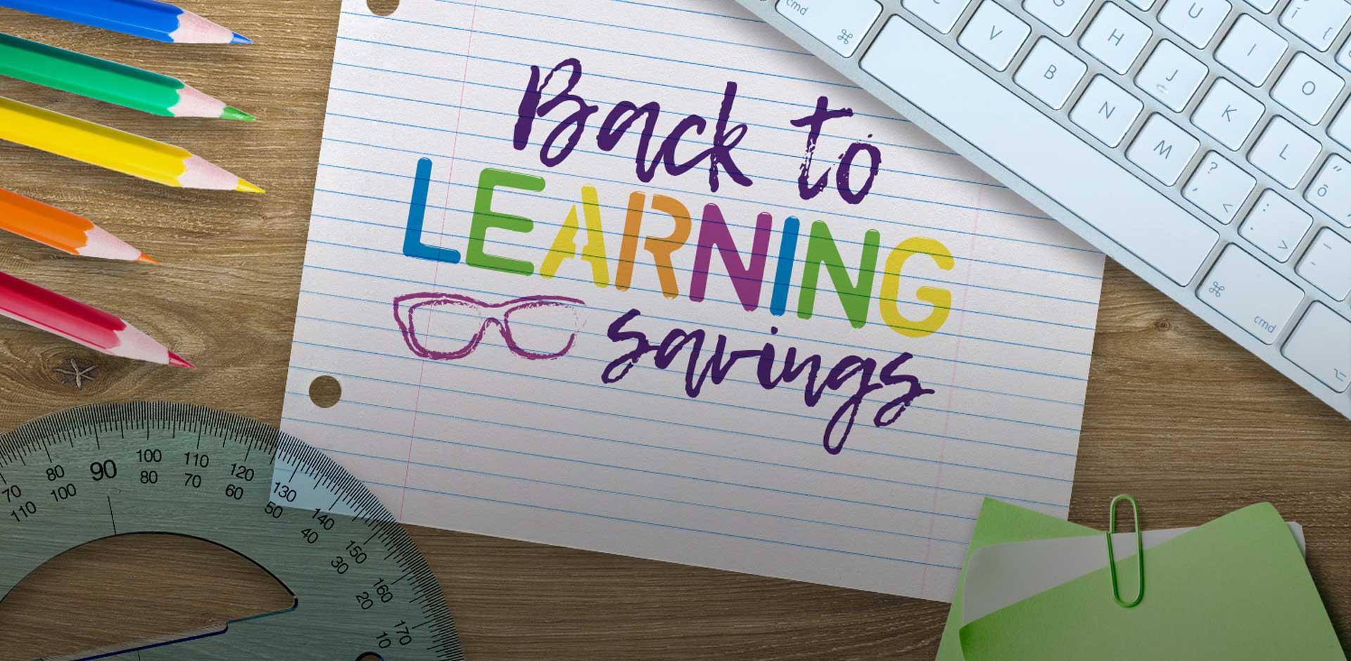 back to Learning Savings image