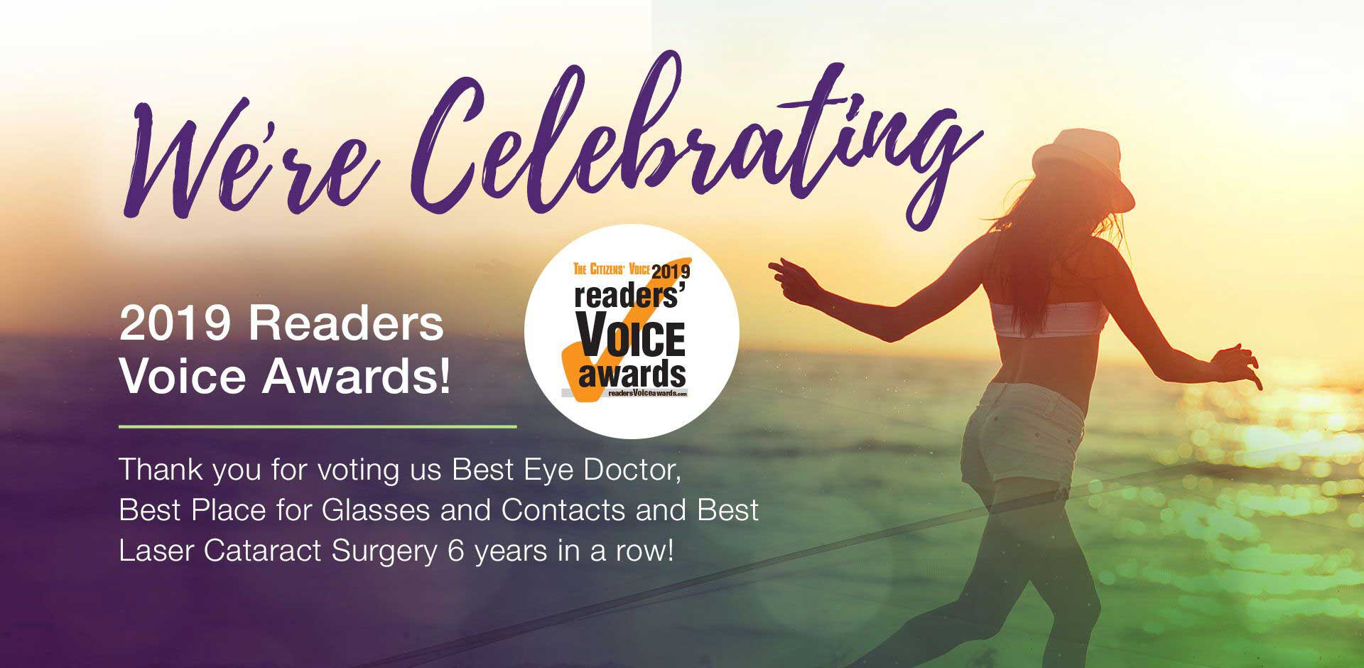 2019 Readers Vioce Award Best Eye Doctor