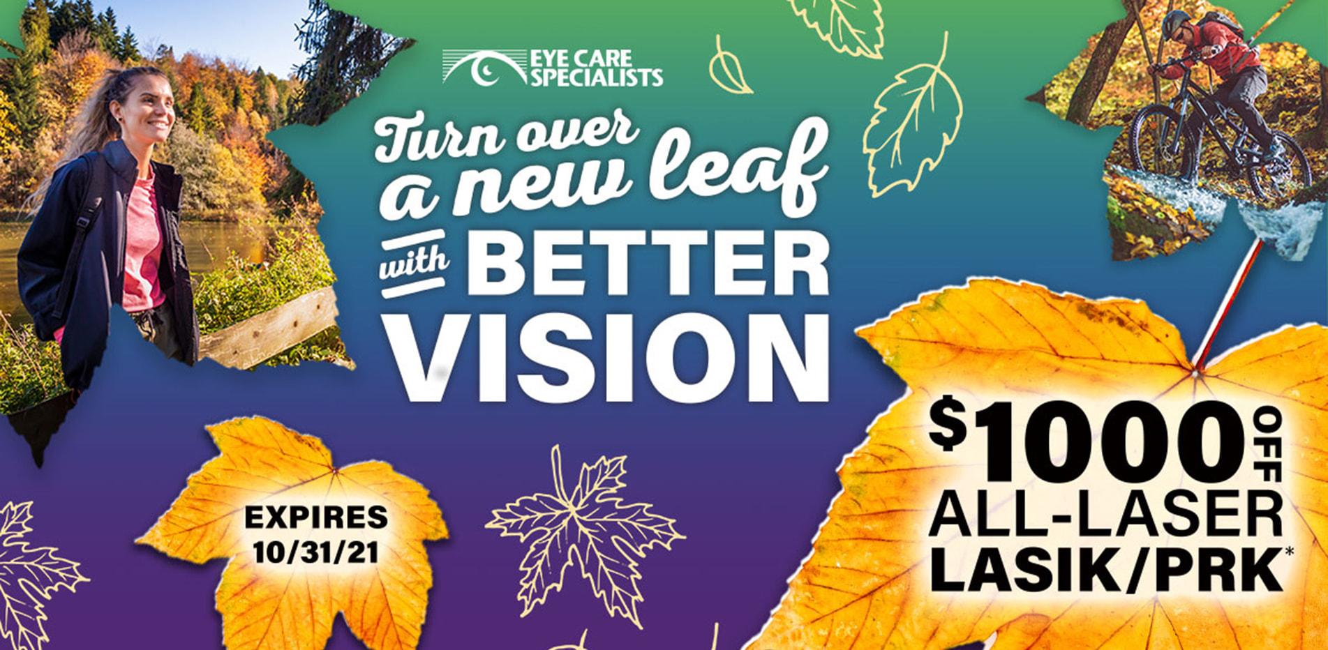 LASIK! $1000 Off All-Laser LASIK/PRK*