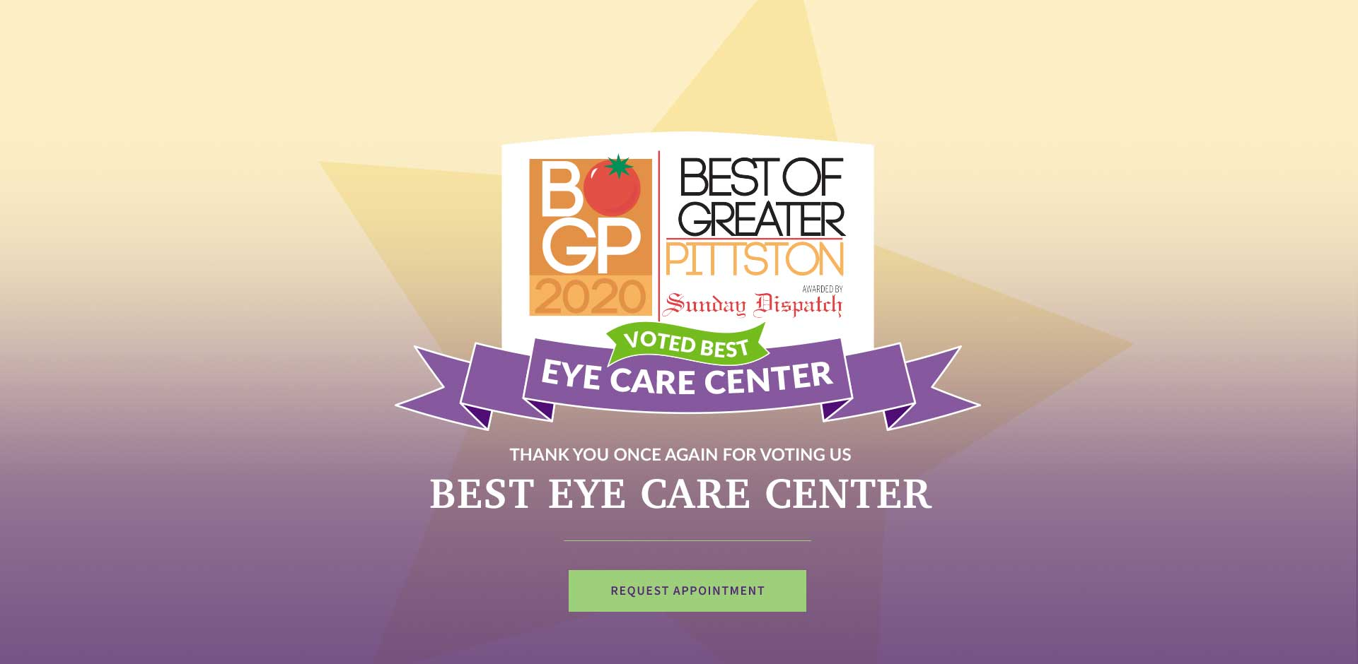 Thank you for voting us Best Eye Care Center