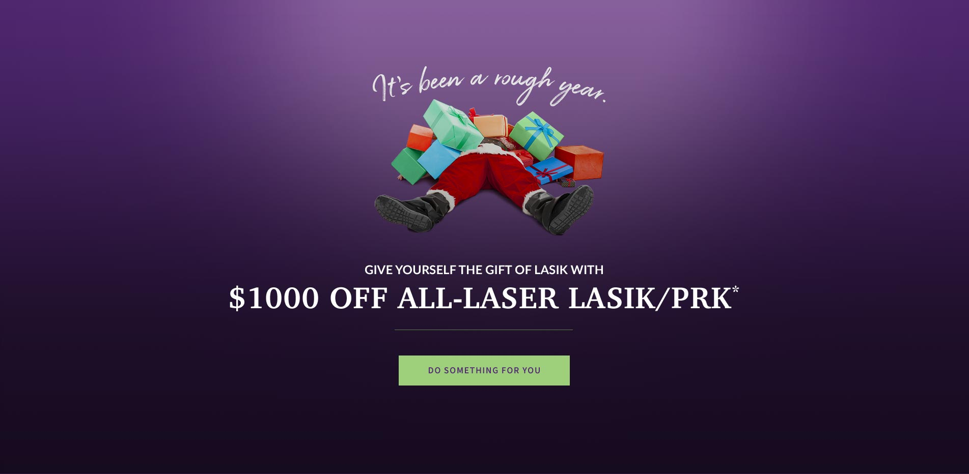 It's been a rough year. Give yourself the gift of LASIK with $1000 off all-laser LASIK/PRK*