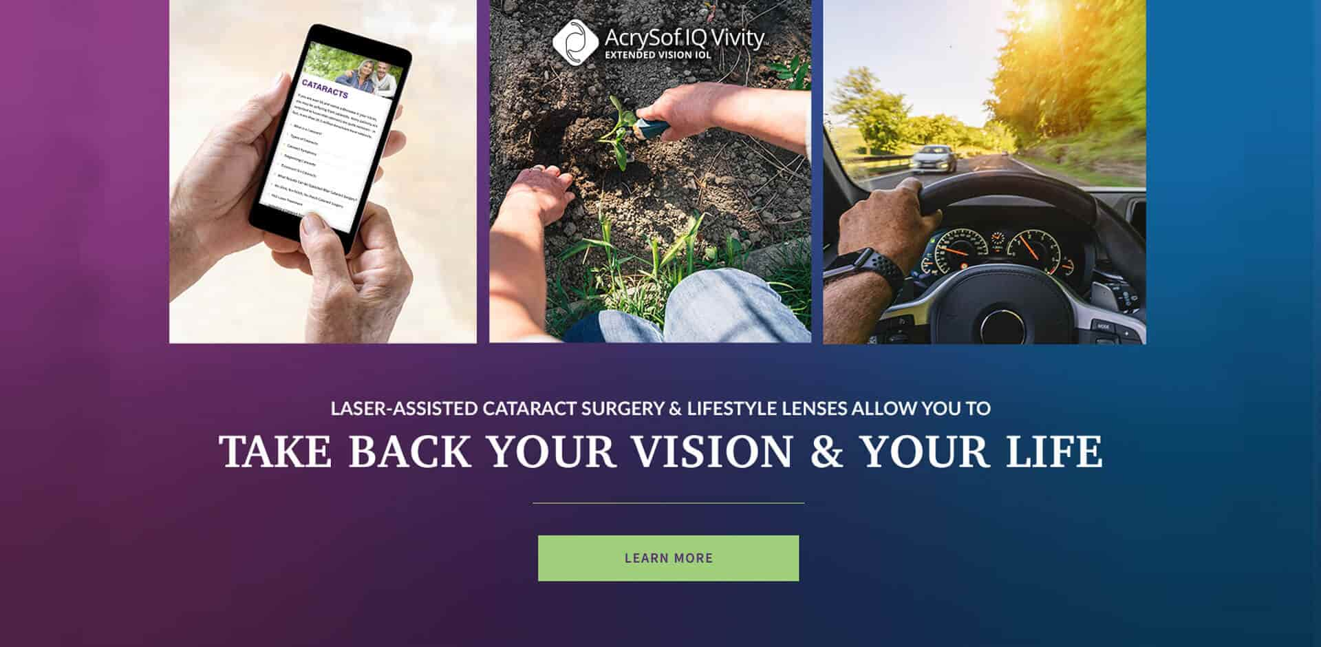 Take back your vision and your life - learn more about the Vivity IOL