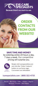 Order contacts from our website