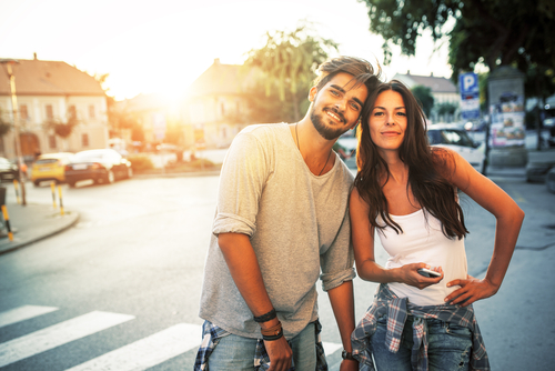 Young couple smiling after LASIK