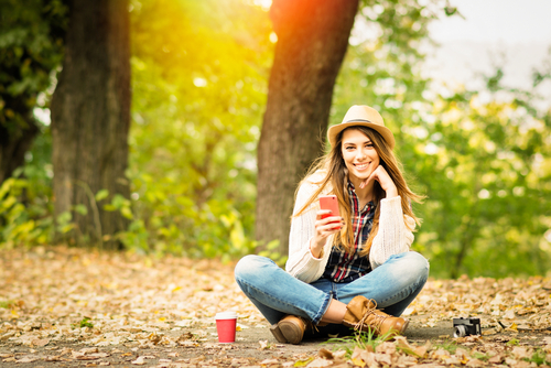 Young woman enjoying the outdoors after LASIK